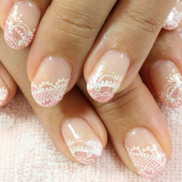 50 Beautiful Lace Nail Designs – Page 3 – Design Birdy