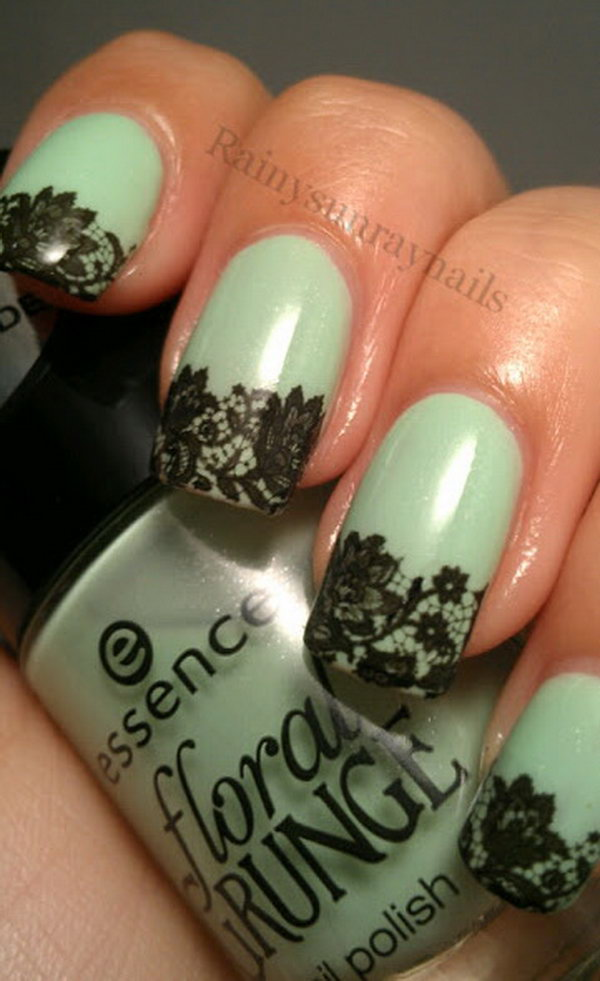 50 Beautiful Lace Nail Designs Page 3 Design Birdy
