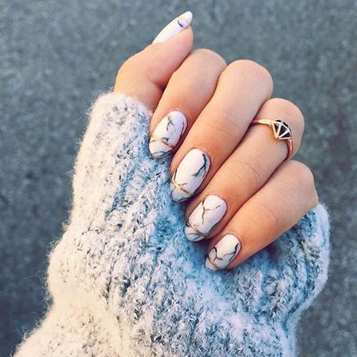 35 Marble Nail Design Birdy