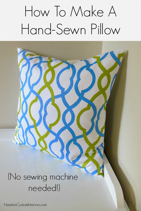 Hand-Sewn Pillow with Tutorial