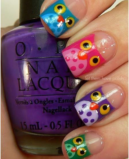 colorful-owl-nails