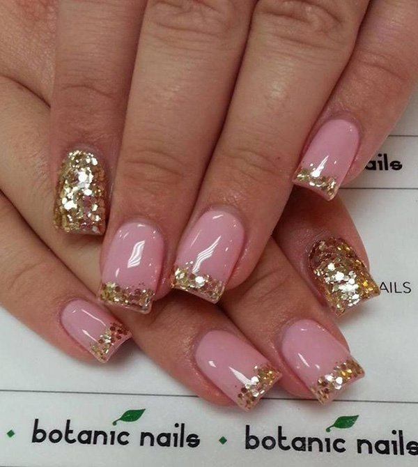 pink-with-golden-glitter-nail-33