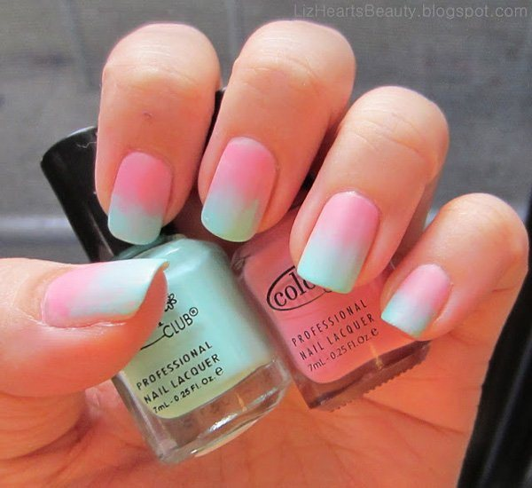 Blue And Pink Nail Polish Ideas To Bend Light