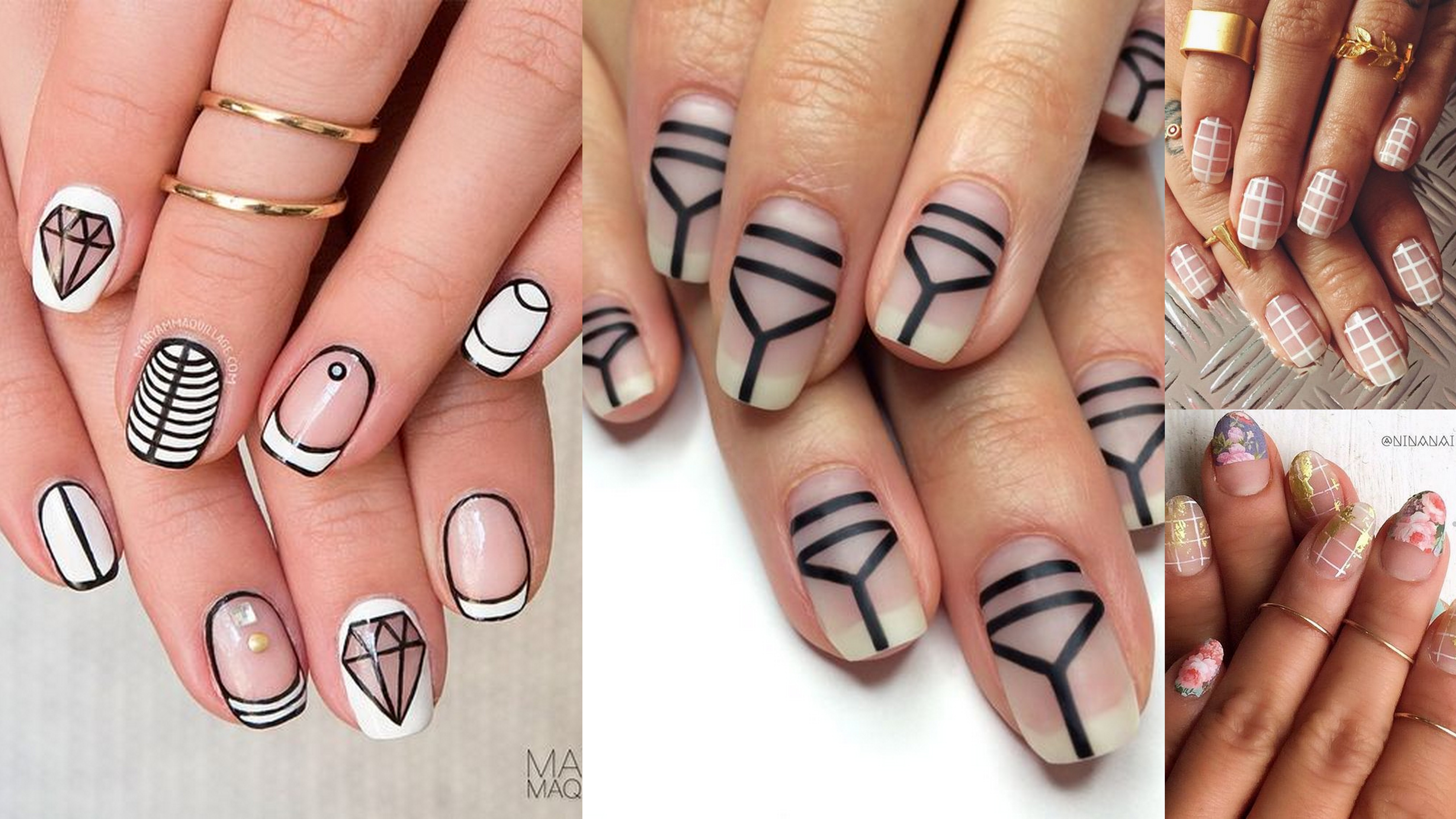30 Negative Space Nail Designs