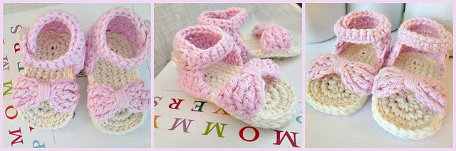 Bow Front Baby Sandals