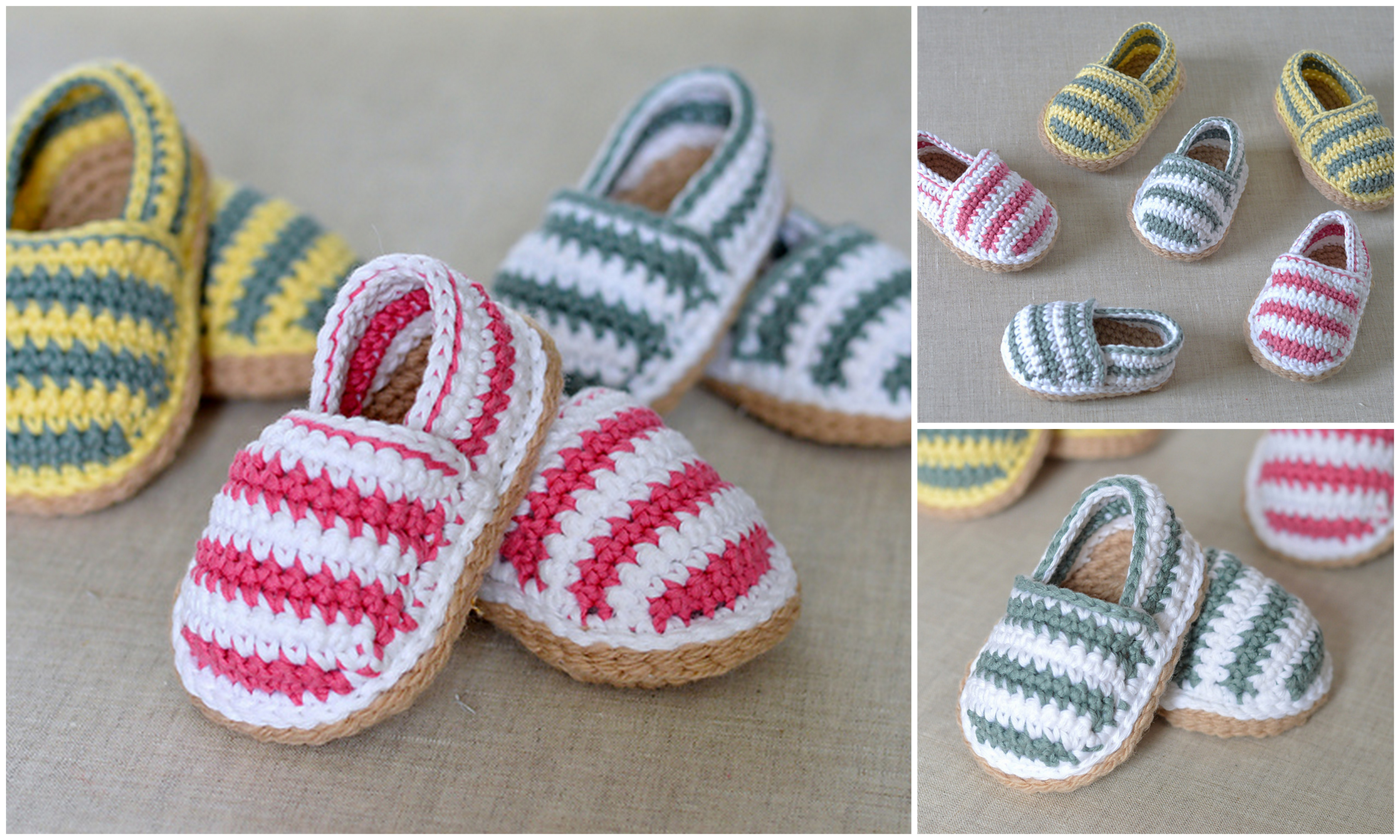 Baby Stripy Espadrille Shoes