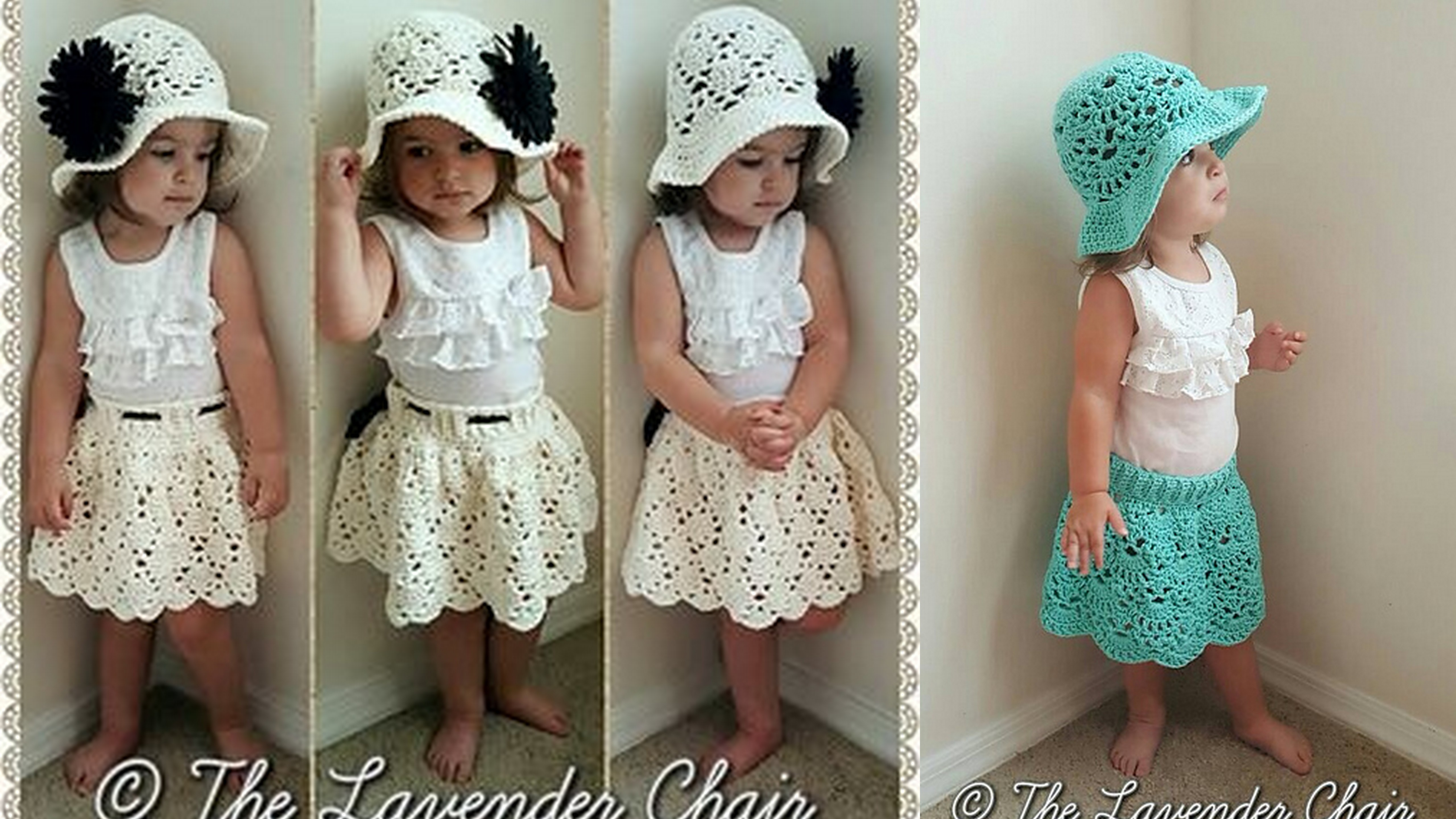 Lacy Shells Skirt With Hat