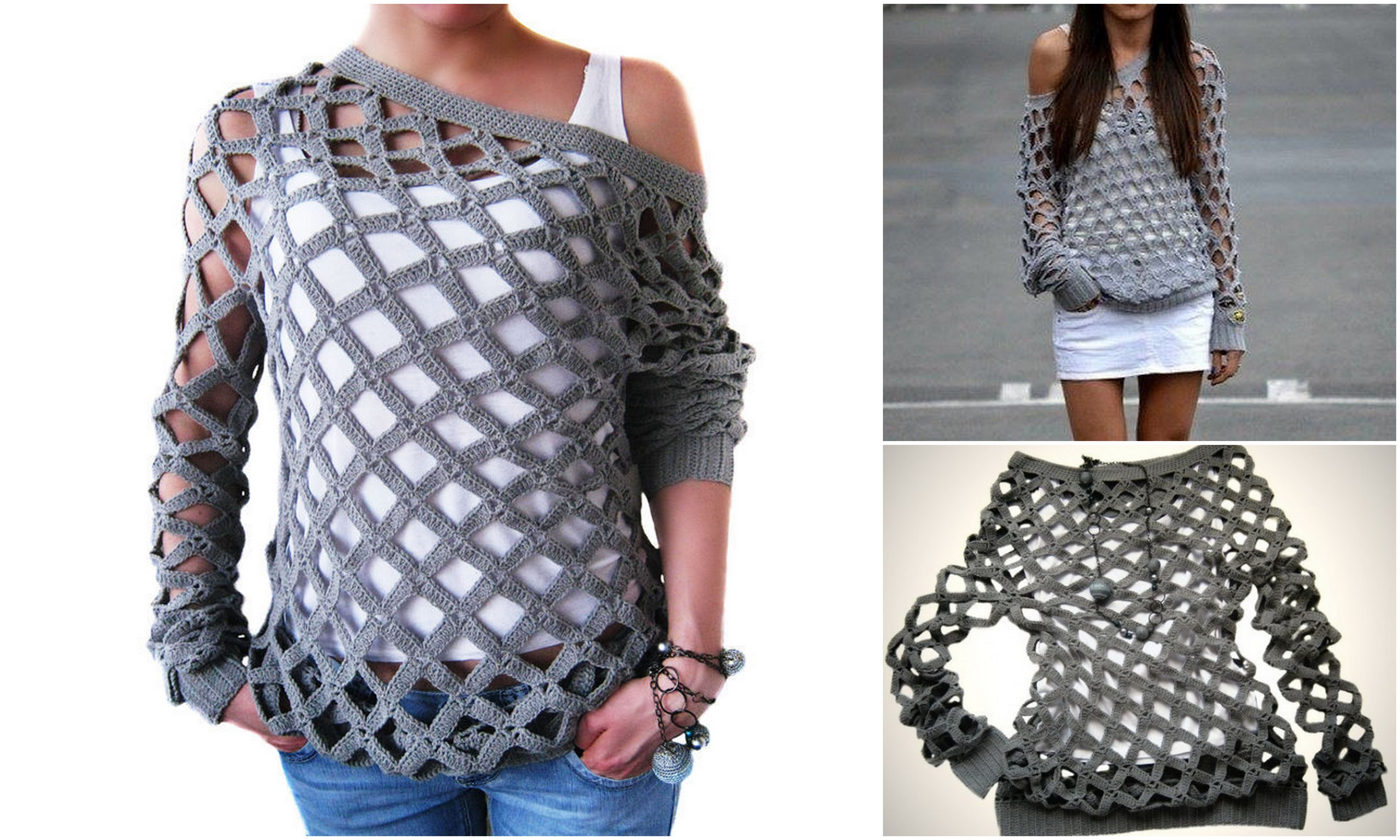 Net Tunic Sweater