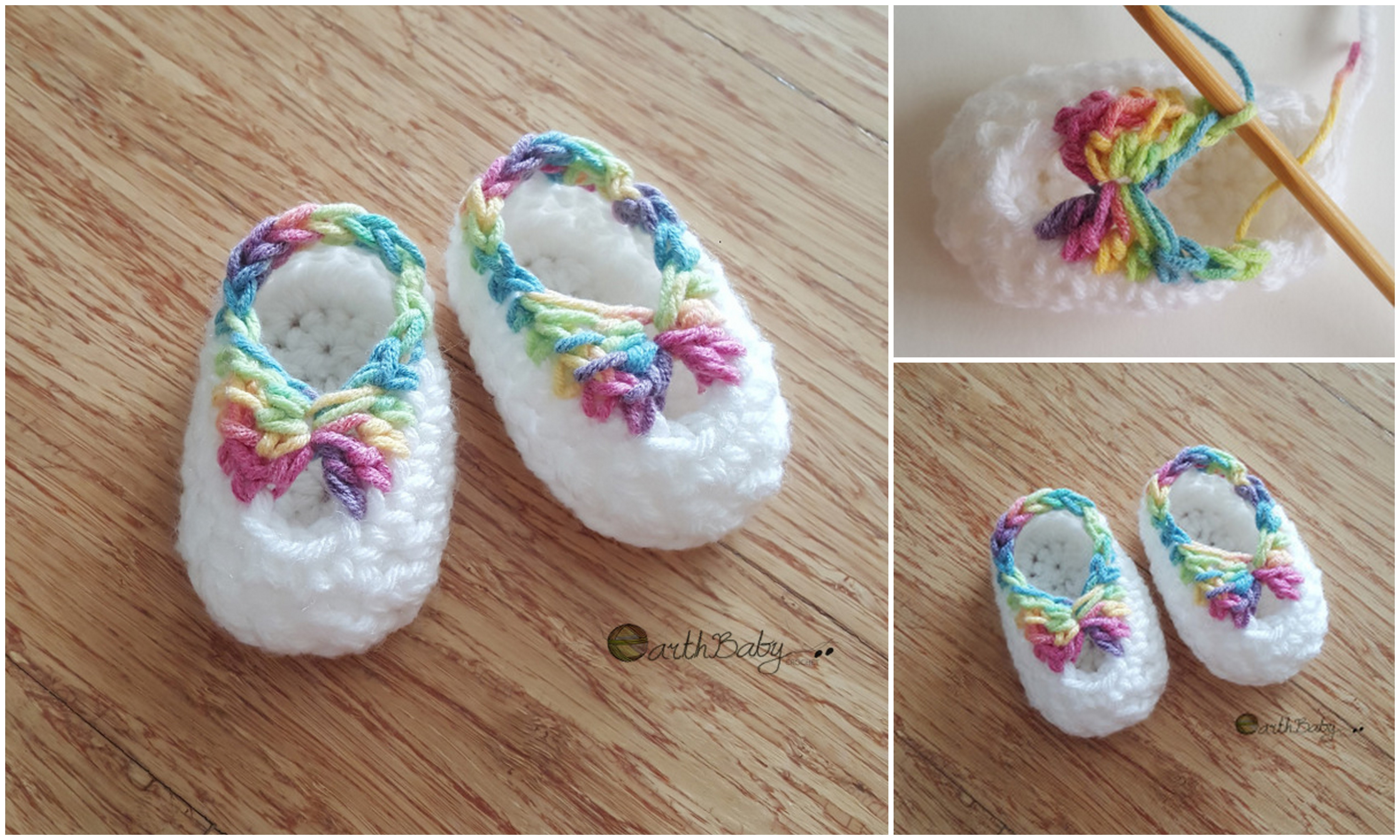 QUICK CROCHET BOOTIES WITH BOW