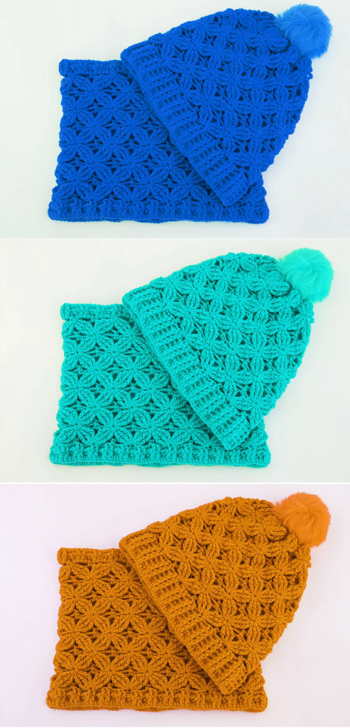 Crochet Hat And Scarf Easy Set Design Birdy