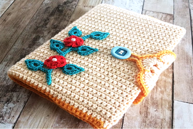 Crochet Book Cover Tutorial : Crochet beautiful book cover design birdy