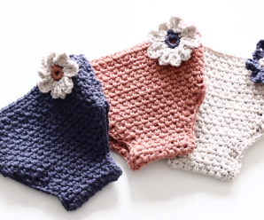 Adorable Crochet Baby Diaper Cover