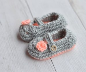 Crochet Two Toned Mary Janes