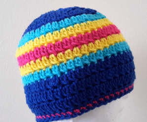 Crochet Lazy Cluster Hat