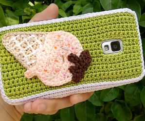 Crochet Phone Cases Watermelon Ice cream Totoro