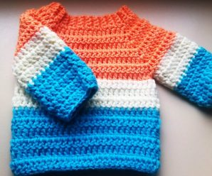 Crochet Baby Sweater, Jumper, Pullover