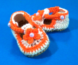 Crochet Baby Summer Shoes Very Fast and Easy