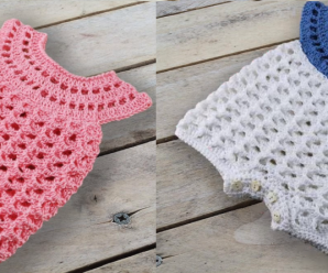 Crochet Baby Bodysuit Unisex Step by Step