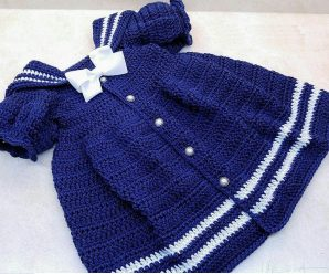 Crochet the Sassy Little Sailor Baby Dress