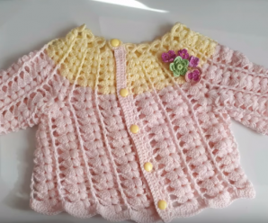 Beautiful and Cute Crochet Puff Sweater/Jacket