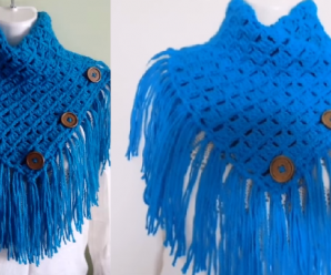 Crochet Beautiful Poncho/Turtleneck Tutorial