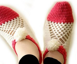 Easy to Make Cluster Crochet Slippers Step by Step Tutorial/Pattern