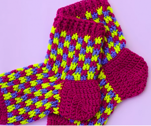 Crochet Socks for Adults Tutorial