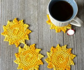 The Sun's Out! Crochet Drink Coasters