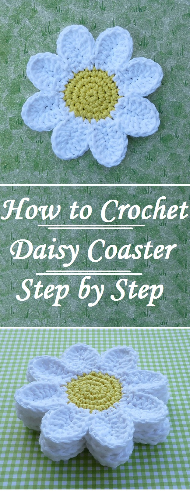 Crochet easy daisy coasters design birdy hello and welcome to design birdy today we would like to share with you an article about crocheting these beautiful super cute and easy daisy flower izmirmasajfo