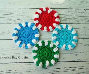 Crochet Puff Coasters Step by Step