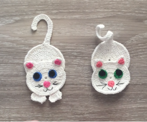 How to Crochet Cat Applique Step by Step