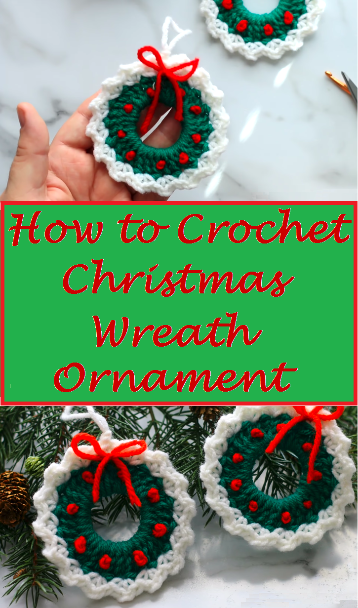 Crochet Christmas Wreath Ornament Design Birdy