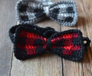 Crochet Plaid Bow Tie Free Instructions