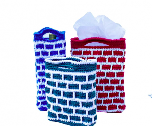"Crochet ""Down the Chimney"" Gift Bag"