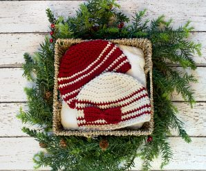 Crochet Cranberries and Cream Baby Hat