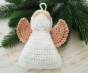 Crochet Christmas Angel Ornament