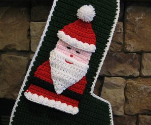 Crochet Santa Stocking Medium Size