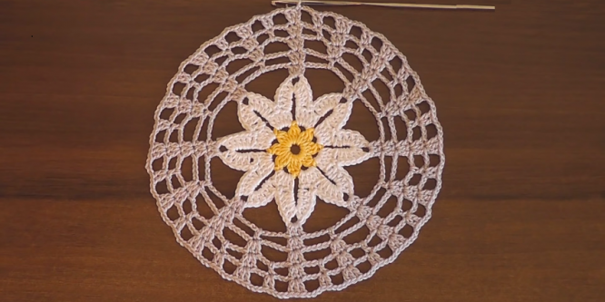 Crochet Easiest Flower Doily