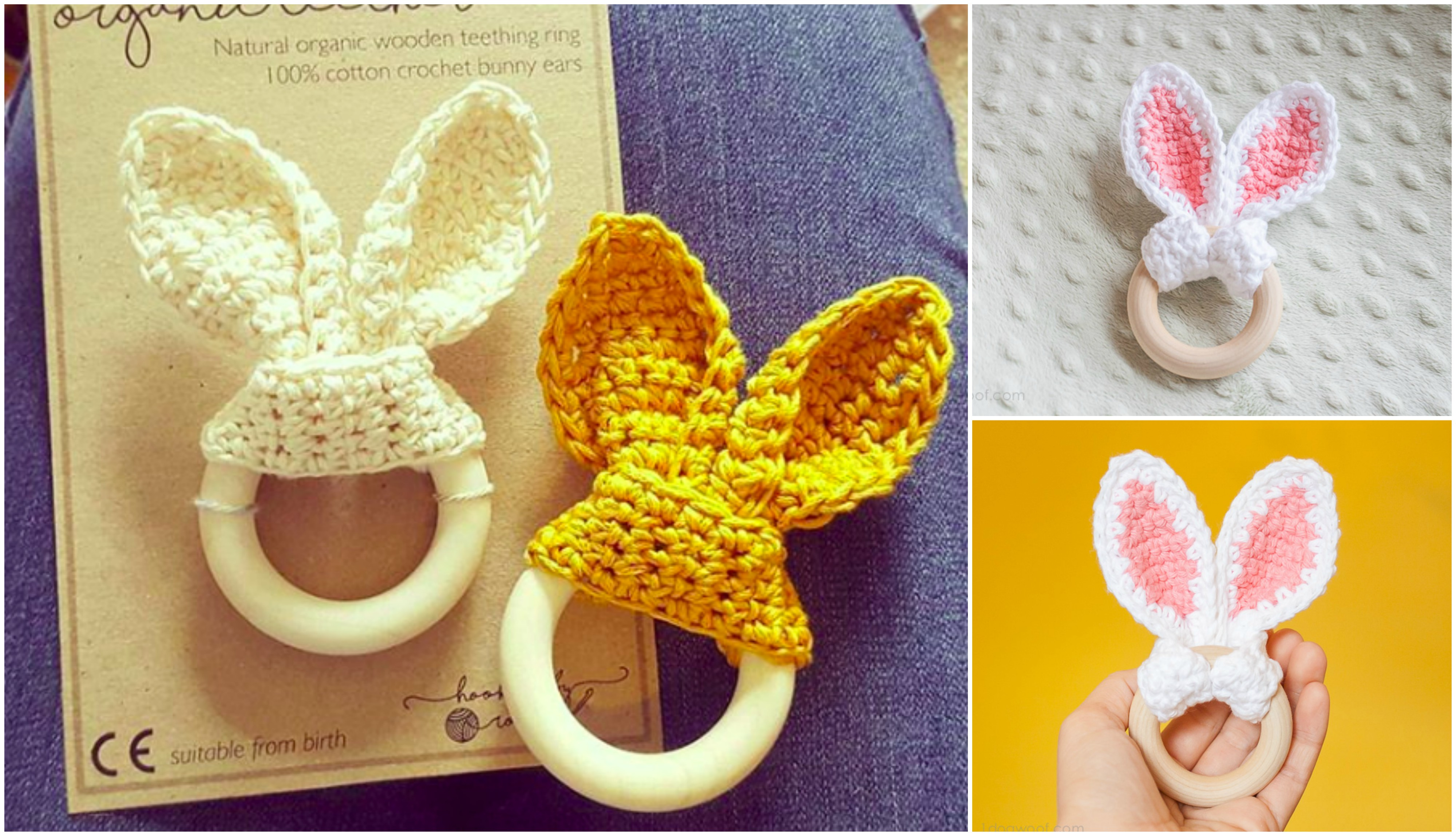 Bunny Ear Teething Ring | Crochet Teether | Simple how to tutorial ... | 2297x4000